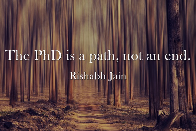 Le doctorat est un chemin, pas une fin